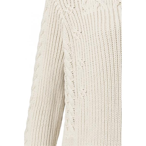Yaya Cable mix knit with fringe