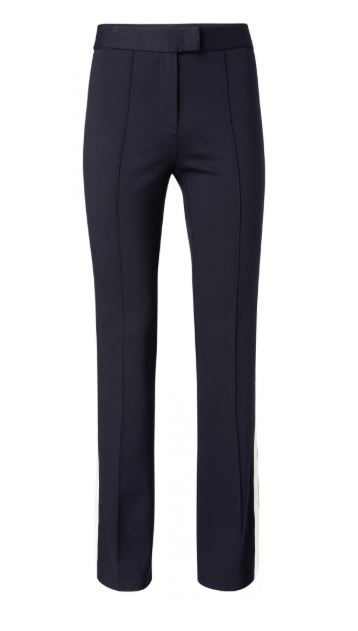 Yaya Flared trousers with side stri