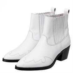 Yaya Leather cowboy ankle boot
