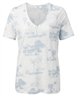Yaya Linen V-neck T-shirt