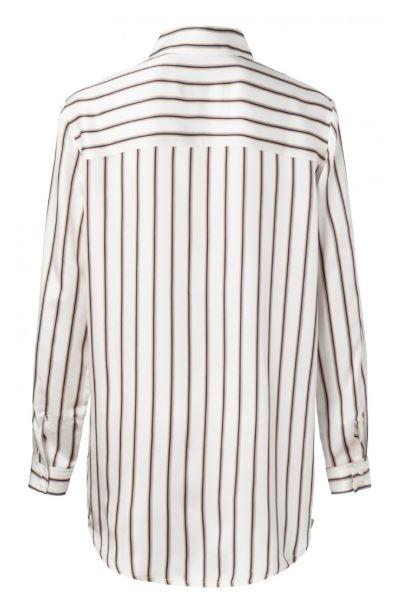Yaya Long striped blouse