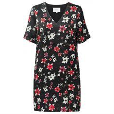 Yaya Straight V-neck dress flowers