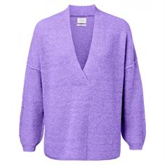 Yaya V-neck knit in soft wool blend
